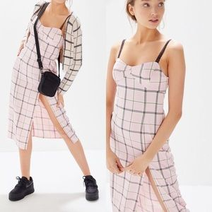 Urban Outfitters Pink Plaid 'Cher' Dress
